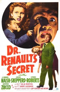The original poster for Dr Renault's Secret from 1942