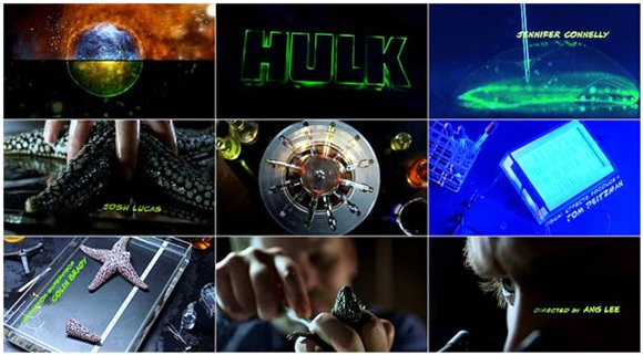 From Hulk title sequence.