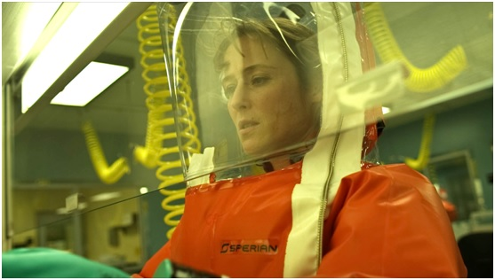 Jennifer Ehle as Dr Ally Hextall in Contagion
