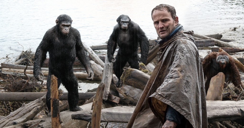 Humans try to make peace with the apes to gain access to a dam.