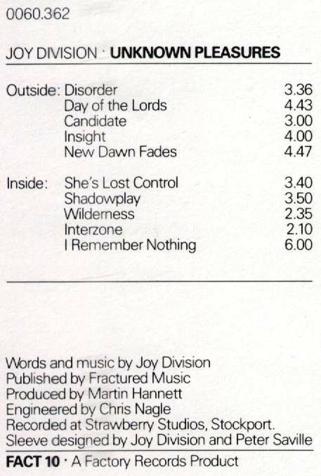 unknown pleasures records