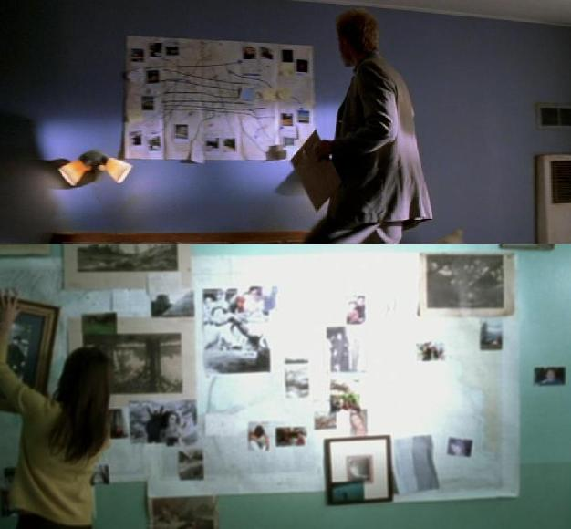 Memories as photographs in screenshots from Memento (2000) and The Diving Bell and the Butterfly (2007)